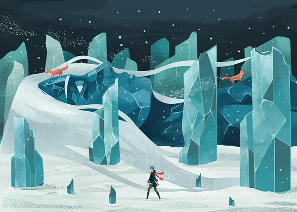 Reno Nogaj the wanderer and the ice forest