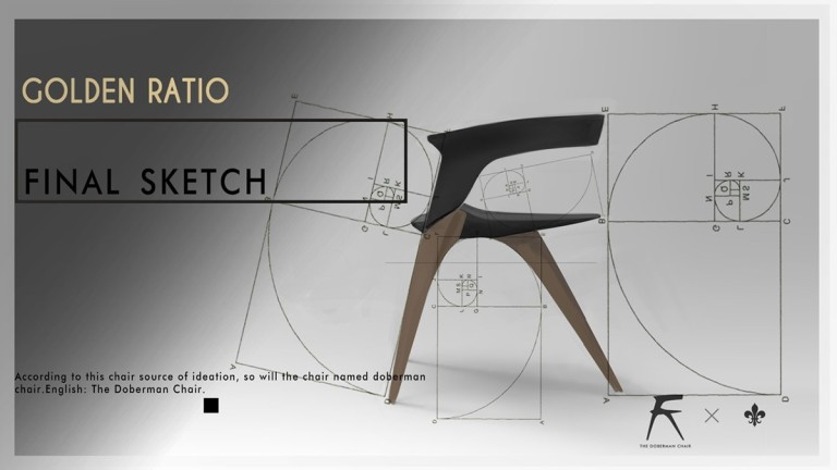 Zha Lianghao Doberman Chair_Golden Ratio Final Sketch
