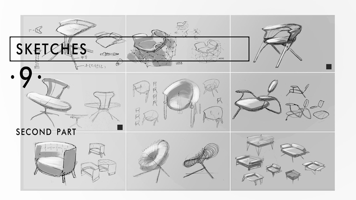 Zha Lianghao Doberman Chair_Sketches
