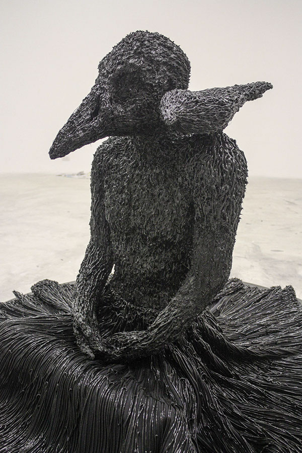 artist rook floro anxiety sculpture. view