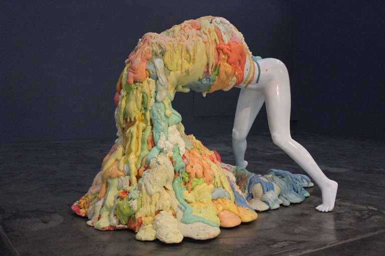 side view artist rook floro_voluptous sculpture
