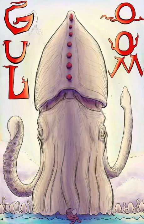 Golom, Guloom, Squid, Marine, Art