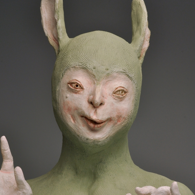 Malaysian contemporary artist Harn Kae Chao Green Rabbit