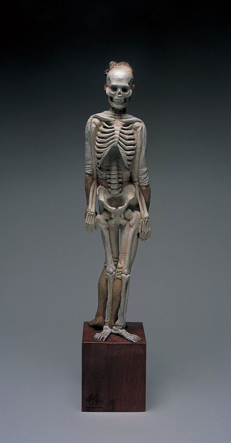 Yoshiro Kanemaki Sculpture Skeletal Side