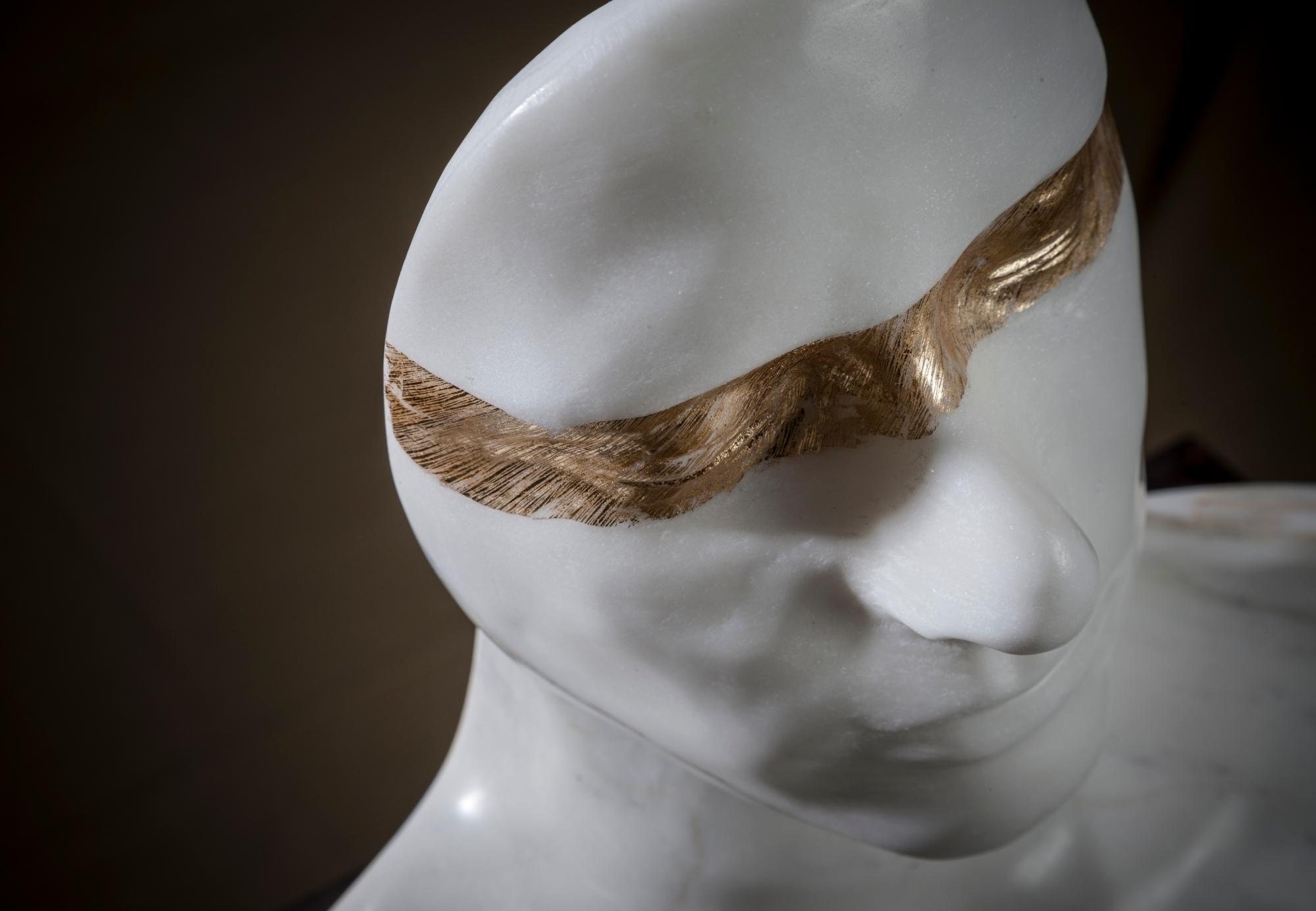 Classic Sculpture, Marble Carving, Gold, Modern Art, Sculpture